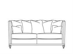 2.5 Seater Scatter Back Sofa