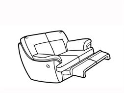 Manual 2 Seater Recliner Sofa