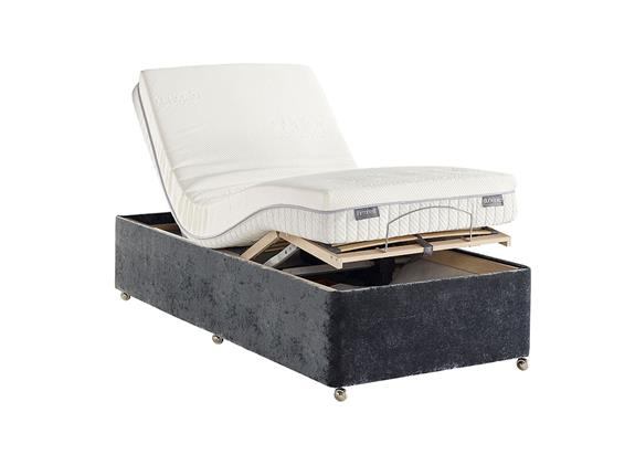 Small Single Electric Adjustable Non Drawer Divan